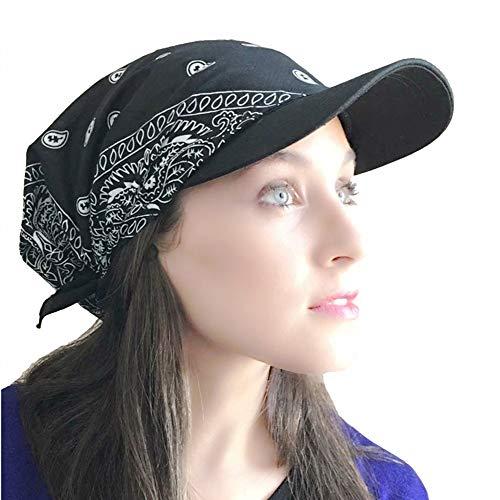 ZYCC Sommer Damen Sonnenhut Beanie Hat Visor Cap Chemo Krebs Hut Falten Anti-UV Golf Tennis Hut Baseball Hat (Marine)