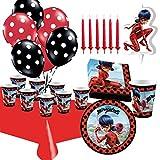 Kit de Cumpleaños Ladybug con Vela y Globos