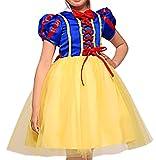 Kinder Prinzessin Kleid 4 bis 6 Jahre Einheitsgrösse Grimms Märchen Kostüm Cosplay Cape Mädchen Kostüm Schneewittchen Rapunzel Aschenputtel Grösse 110 116 ca