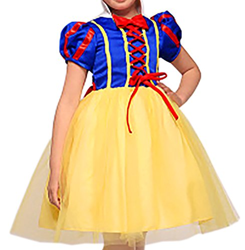 Kinder Prinzessin Kleid 4 bis 6 Jahre Einheitsgrösse Grimms Märchen Kostüm Cosplay Cape Mädchen Kostüm Schneewittchen Rapunzel Aschenputtel Grösse 110 116 (Princess Disney Damen Kostüme Schneewittchen)