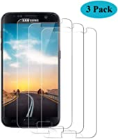 Seomusen Panzerglas Schutzfolie kompatibel mit Samsung Galaxy S7 [3 Stück], [9H Härte][ Anti-Kratzen]...