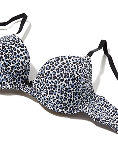 Iris & Lilly Reggiseno Leopardato Body Smooth Donna Nero (Black Leopard Print)