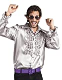 Generique - Silbernes Disco-Hemd für Herren M