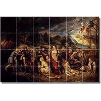 Peter Rubens religiosa Backsplash tile Mural 30. 81,3x 121,9cm utilizzando (24) 8x 8piastrelle in ceramica.