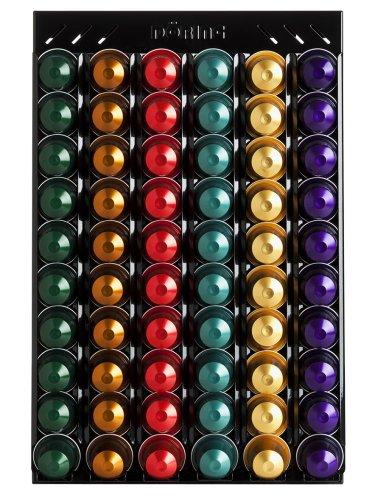 Distributore di capsule, Porta capsule Döring CoffeeRack Wall N60 nero per capsule Nespresso