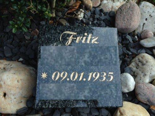 ABC Grabplatte mit Gravur Granitplatte Grabstein Liegestein Urnenstein