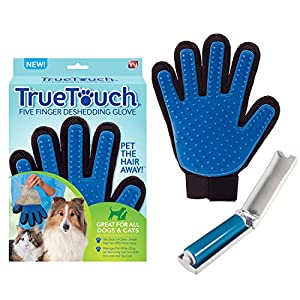 Allstar Innovations True Touch Five Finger Deshedding Glove- Premium Version, Great for Cats & Dogs- Includes 1 Authentic True Touch Glove 1 Lint Roller- As Seen on TV 18