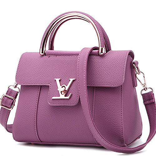Ladies Bag Fashion Wild Dating Travel Shoulder Strap Handbag Small Square Bag@Purple Orchid (Leder Orchid Faux)