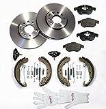 Autoparts-Online Set 60007127 Bremsscheiben 280 mm/Bremsen + Bremsbeläge für Vorne + Bremsbacken Set für Hinten