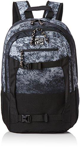 O'Neill - Bm Boarder Backpack, Mochilas Hombre, Schwarz (Black Aop W/ White), 20x31x48 cm (B x H T)