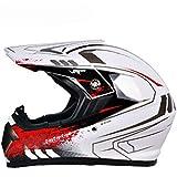 XINFUKL Motocross Helm Modularer Helm Allround-Helm Sicherheitssonnenschutz Anti-Fog Warm Atmungsaktiv Unisex Abnehmbar,4-XL