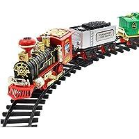 Juego de tren de vapor eléctrico para coche con mando a distancia de alta calidad de Prevently, regalo para niños, A