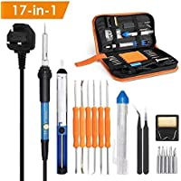 INTEY 18 Pcs Soldering Iron 60w Electronics Soldering Kit Temperature Adjustable Soldering Tool Kit On Sale