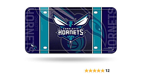 Rico Nba Charlotte Hornets Metal License Plate Tag Sport Freizeit