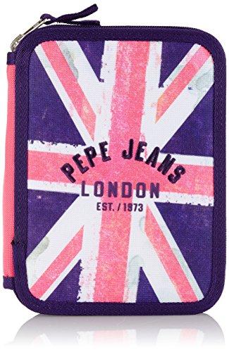 Pepe Jeans 6029251 – Estuche, color Multicolor (Azul/Rosa), 21 cm