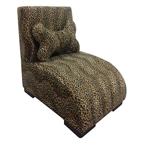 O.R.E Ore International Gepolsterten Pet Lounge Bett mit Leopard Print, 57,8cm -