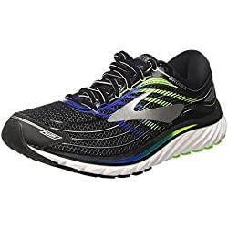 Brooks Glycerin 15, Scarpe da Running Uomo, Multicolore (Black/Electric Blue/Green), 42 EU