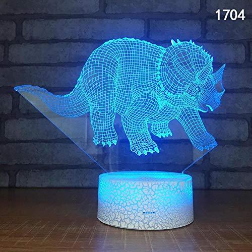 Led Nachtlicht Tischlampe Dinosaurier (Fernsteuerungsschalter) Lichterkette, Schlafzimmer Usb Nachtlicht Mädchen Junge, Indoor 3D Illusion Tischlampe 7 Farben Ändern Einzigartige Visuelle Lichteffekt (Lichterketten Planeten)