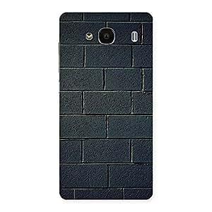 Black Wall Multicolor Grain Back Case Cover for Redmi 2s