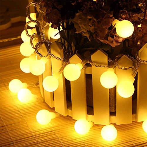 Batteriebetrieben 50 LED Globe Ball Lichter für Weihnachten Bäume, Thanksgiving, Garten, Halloween, Home Dekoration Indoor Outdoor Hochzeit Party Geburtstag Dekoration (Warm Weiß)