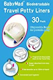 Travel Potty Liners Disposable (Pack of 30) - ECO Friendly Biodegradeable - Use Liner With Potette Plus, Babyway & Other Leading Potties