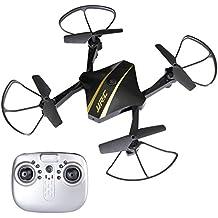 SGILE Mini Drone Plegable con HD Cámara Helicóptero Quadcopter Compatible con Smartphone Negro