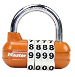 SZXC Big Combination Vorhängeschloss, 4 Passwörter Starke Sicherheitskombination Lock für Schule, Haus, Büro, Angestellter, Athletic, Storage Lockers, Schränke, Initial Combination 0000 , orange High quality