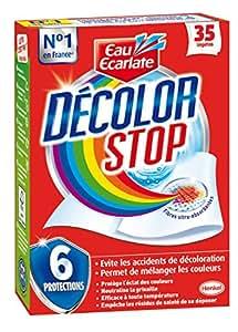 Eau Ecarlate - Décolor Stop - Lingette anti décoloration- Evitez les accidents de décoloration de votre linge - Etui de 35 Lingettes