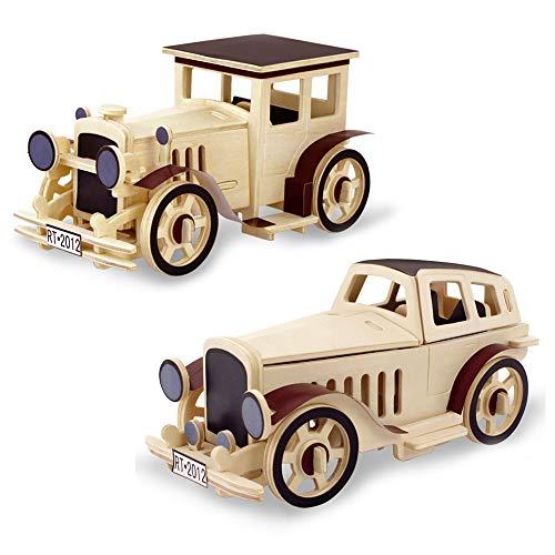 z Auto Puzzle Modell Sammlung, Klassische Auto Puzzle, holzhandwerk bausatz Kinder Geschenk pädagogisches Spielzeug DIY Geschenk Puzzle Spielzeug Alter 5+ (Packung mit 2) ()