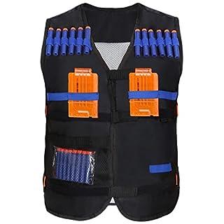 Yosoo Kids Elite Tactical Vest with 20pcs Soft Darts for Nerf Gun N-strike Elite Series Not Including 2 Clips