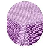 Leinen Optik Tischdecke Oval 160x260 cm Flieder Hell Lila · Oval Farbe & Größe wählbar mit Lotus Effekt - Wasserabweisend