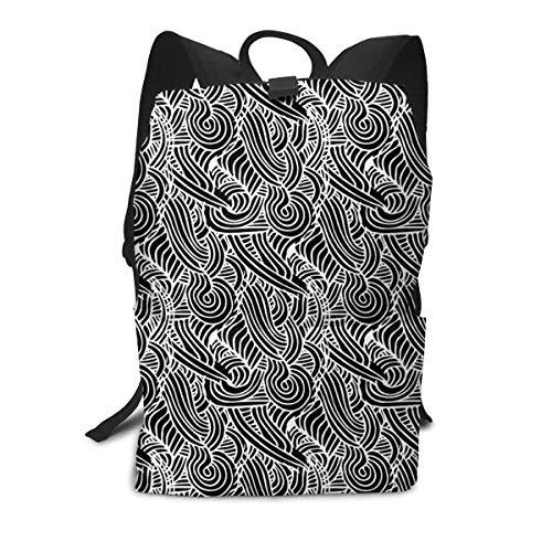 Schwarzer Rucksack Mitte für Kinder Jugendliche Schulreisetasche