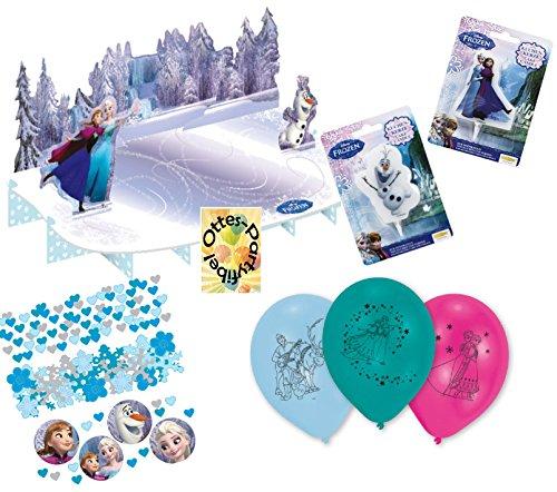 HHO Frozen Ice Dekoset Partyset Die Eiskönigin Partyset Kuchenständer Kuchenkerzen Luftballons ()