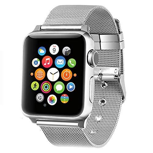 Preisvergleich Produktbild WAOTIER für Apple Watch 38mm Armband Milanese Armband mit Metall Verschluss Edelstahl Mesh Ersatzband für Apple Watch 38mm 40mm Series 1 / 2 / 3 / 4 Armband Sommer Armband für Frauen und Männer (Silber)
