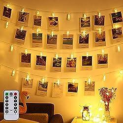 LED Lichterkette Batterie Innen Warmweiß Weihnachten Fenster Außen Dekoration Partylichterkette Weihnachtsbeleuchtung