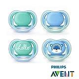 Philips Avent ULTRA AIR Schnuller 2018 Neuheit//6-18 Mo//4er Set Hello Boy//inkl. 2 Sterilisiertrasportboxen