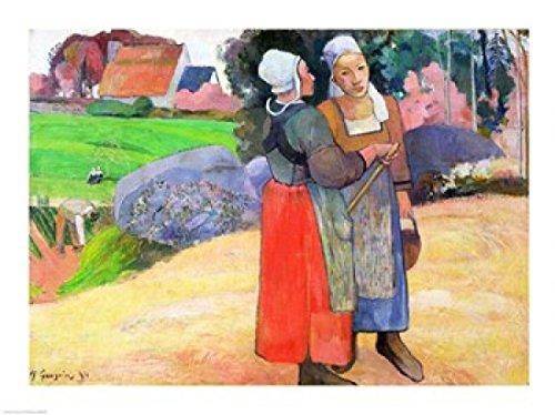 The Poster Corp Paul Gauguin - Breton Bauernkrieg Kunstdruck (60,96 x 45,72 cm)