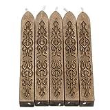 Tenflyer Siegelwachs-Kerzen, quadratisch, verschiedene Farben, 5 Stück im Set gold