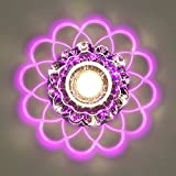 Outgeek LED Ceiling Light Crystal 220V Flush Mount Lamp Ceiling Mount Lamp for Hallway