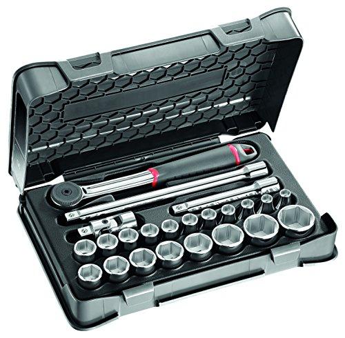 USAG 606 1/2 EA U06060302 Assortimento in Cassetta di ABS con Bussole Esagonali (23 pezzi)
