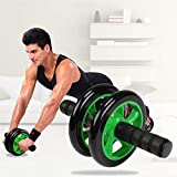 Simxen Anti Skid Double Wheel Total Body AB Roller Exerciser for Abdominal Stomach Exercise Training with Knee Mat Steel…