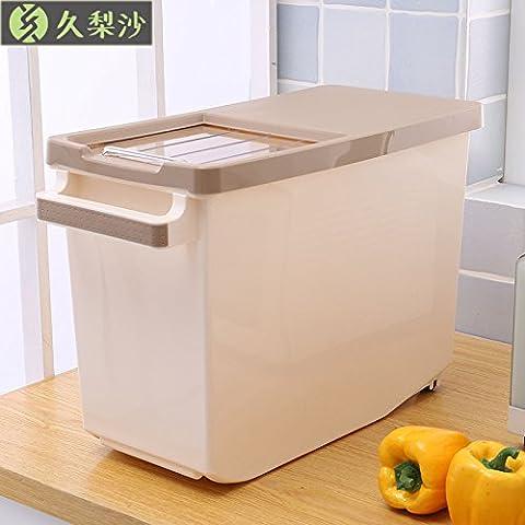 LIVY cinturón poleas masa M y un chasis cubierta deslizante volcado M plásticos arroz en caja de almacenamiento Caja de almacenaje M cilindro