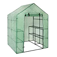 HEIRAO Large Walk-in Greenhouse Plant Cover - Without Iron Frame - 143 73 195 cm