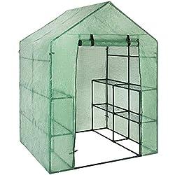 PROKTH   Mini Serre de Jardin Exterieur, Bache pour Serre, PE Plastique Tente abri, Plastique de Remplacement pour Serre de Jardin, 143x73x195 cm