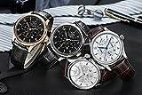 PARNIS Complication 2116 Automatik Herrenuhr Edelstahl-Armbanduhr Lederarmband MIYOTA Schnellschwinger Kaliber 9100 mit Vollkalender und Gangreserve-Anzeige - 7