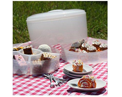 Food cake &-carrier boîte de transport pour gâteaux, tartes et plats avec eiswürfelfach