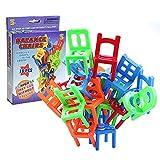 Zantec 18Pcs / Lot Stuhl Form Blöcke Mini Plastikbalancen Stapel Stuhl Block Spielzeug scherzt Schreibtisch Spiel Spielwaren