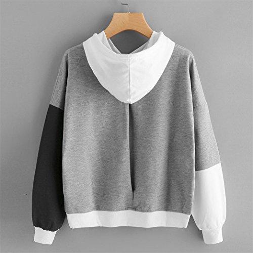 Vêtements KAKing Sweatshirt à capuche à manches longues femme Sweats à capuche Sweats à capuche à manches longues Blouse Gris