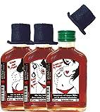 Malen nach Zahlen Kräuterlikör Taschenflasche mit Zylinder Etiketten Hochglanz Komm zum Punkt Spiel mit mir Malbuch f�