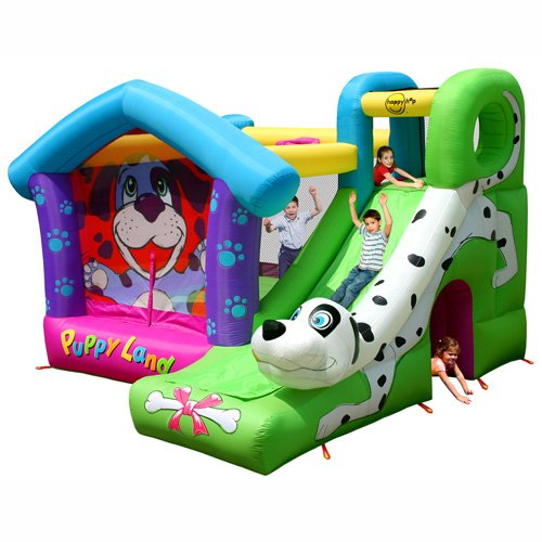 Duplay Happy Hop Puppy Land Kids Bouncy Castle with Slide